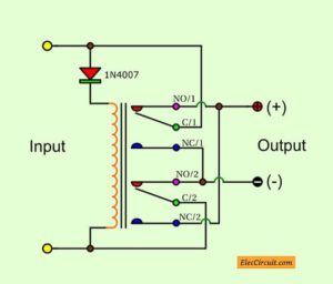 Automatic Reverse polarity switch using Relay.