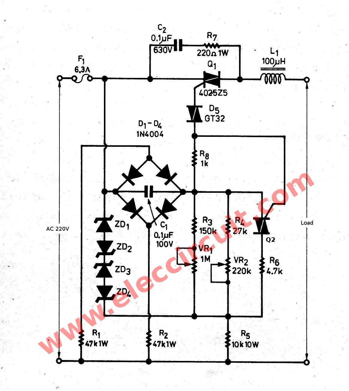 Led Ac Circuit Diagrams Elegant Tube Light Wiring Diagram Also Flasher By Ic 4011 Schematic Of The Watts Dimmer For Inductor Load With