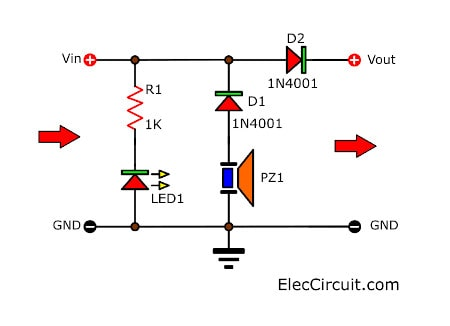 Simple Reverse Polarity alarm circuit
