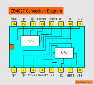 cd4027 connection diagrams