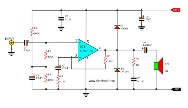 TDA2030 Power Amplifier, OTL 15W
