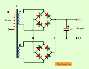 Separate each rectifier diodes into parallel