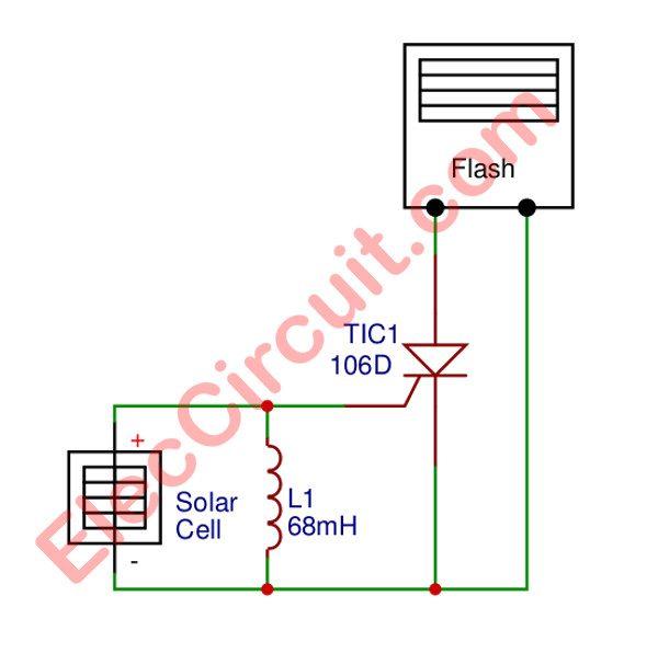 Simplest slave flash trigger circuit