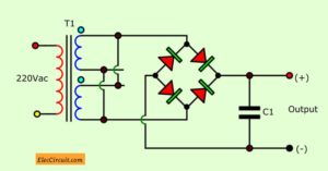 the bridge full wave rectifier on the transformer is modified
