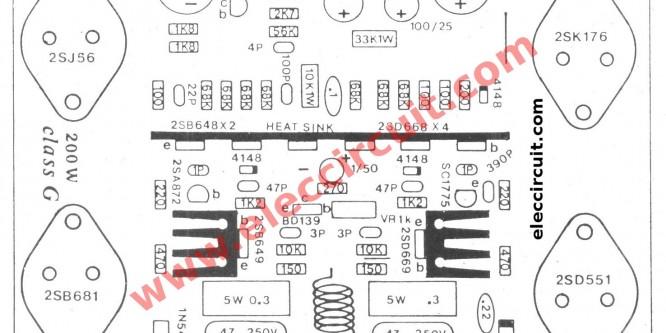 300 watt MOSFET Power amplifier circuit class G