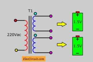 transformer polarity look like battery