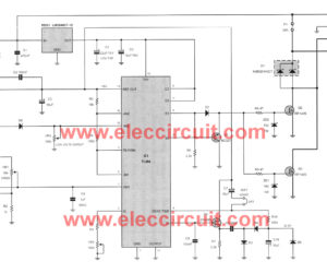 12V-24V PWM Motor controller circuit using TL494 and IRF1405