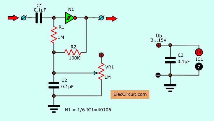 Automatic duty factor controlled circuit