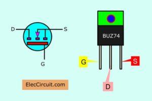 BUZ74 MOSFET pinouts