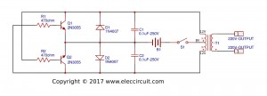 Electric fish shocker circuit