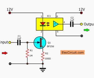 Linear opto isolator circuit