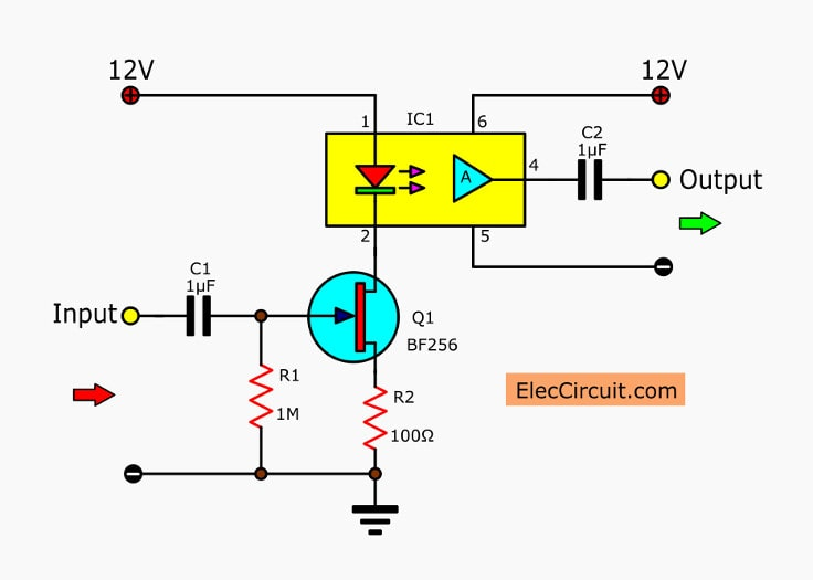 Linear opto isolator circuit