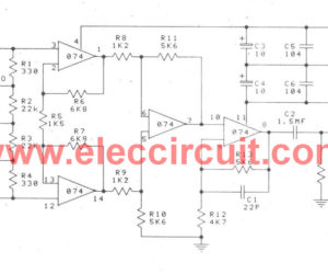 Low noise microphone preamplifier circuit using NE5532