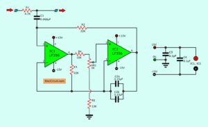 Hum Filter circuit using electronic coil