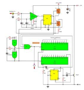 Analog To Digital Converter Circuit Using Simple Parts