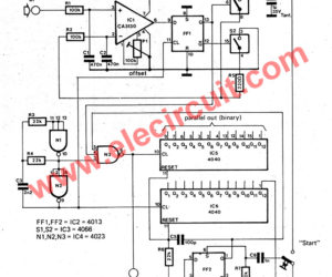 Analog To Digital Converter Circuit Using Simple Parts