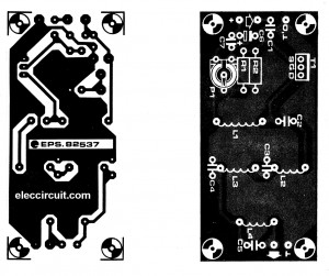 the PCB and components layout