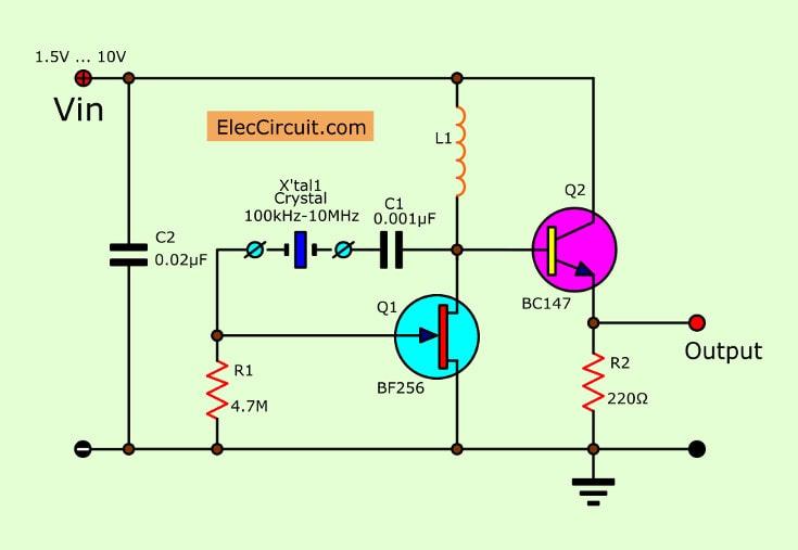 Low Voltage Crystal Oscillator Circuit Using Fet