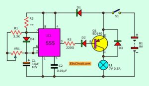 Power Battery Saver using PWM 555