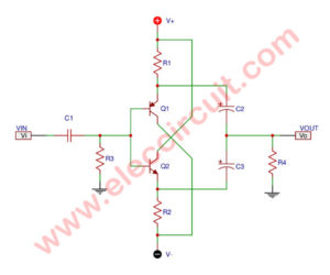Complementary common-emitter circuit