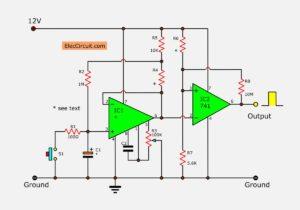 op-amp long timer circuit