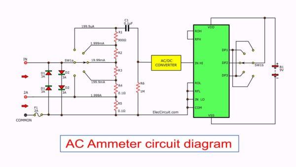 AC Ammeter circuit diagram