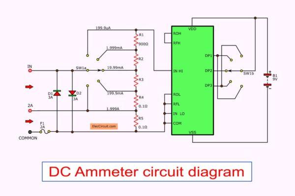DC Ammeter circuit