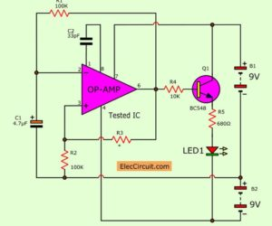 The Op-amp IC tester circuit