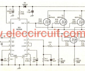 500W power inverter circuit using SG3526-IRFP540