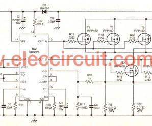 500W power inverter circuit using SG3526-IRFP540