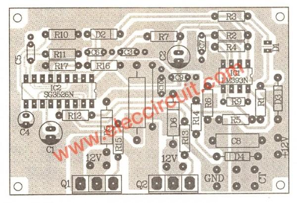 500W power inverter circuit
