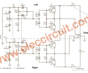 Low Voltage Preamplifier Circuit with Tone Control