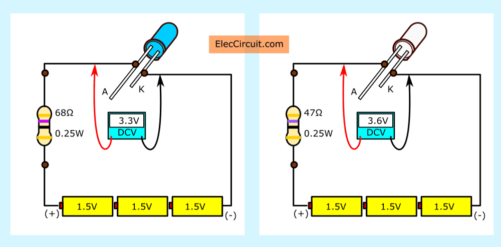 how to use led circuit in basic ways  eleccircuit