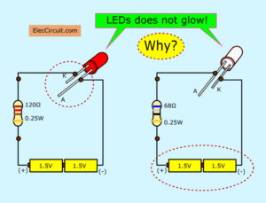 Why LED does not glow