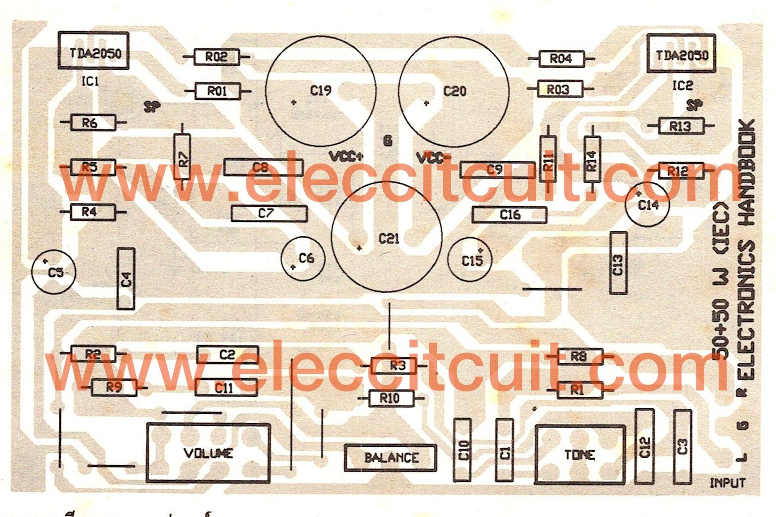 Tda2050 Amplifier Stereo 35w 75w