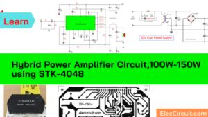 Hybrid power amplifier circuit,100W-150W using STK-4048, STK4040