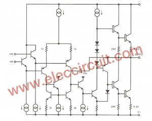 internal circuit in LM3875