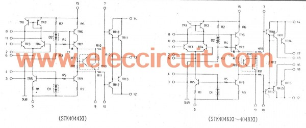 the inside ICs circuit