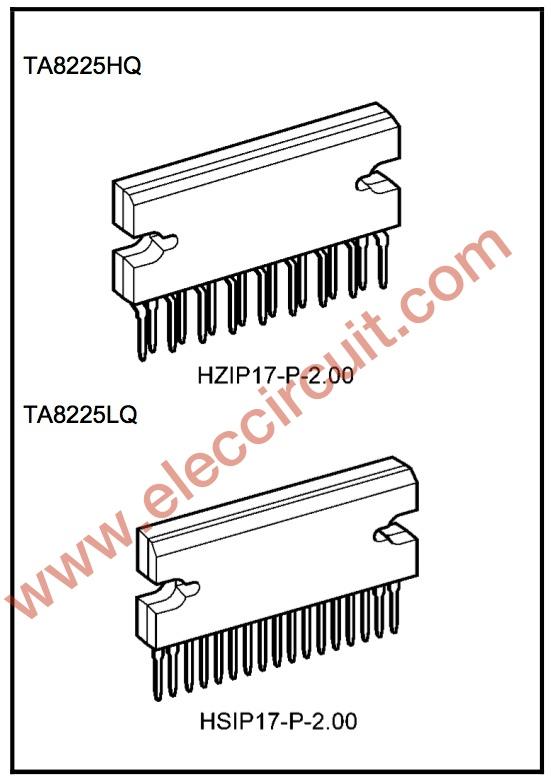 Pins operation of TA8225