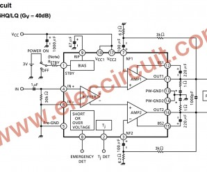 TA8225 BTL Amplifiers circuits