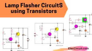 Lamp flasher circuit using transistors