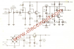 the schematic diagram of first tone controls