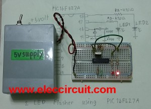 testing_2LED-flasher-circuit-pic16f627a