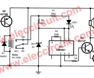 High Temperature fire Alarm Circuit using transistors