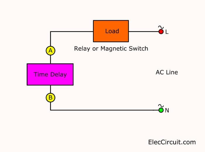 cheap air compressor time delay circuit