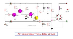 Schematic diagram of air compressor time delay