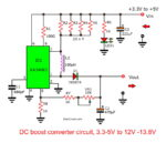 DC Boost Converter circuit 3-5V to 12V-13.8V