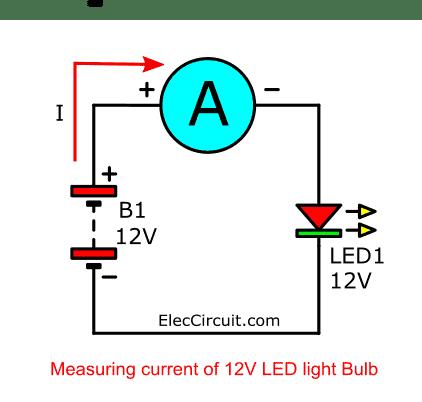 measuring current 12V LED