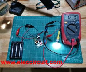 DC Boost Converter circuit 3-5V to 12V-13.8V