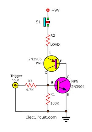 The transistor lat as SCR trigger